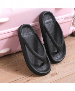 RASS PLE Black Thick Bottom Wedges Sea  Thong Flip-Flop