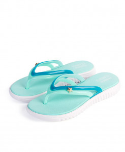 YOUDEYISI Blue Summer Slip-on Anti-slip Hard-Wearing T-tied Flip Flops