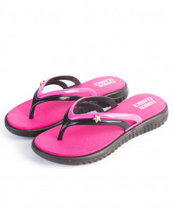 YOUDEYISI Dark Pink Summer Slip-on Anti-slip Hard-Wearing T-tied Flip Flops