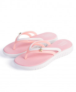 YOUDEYISI Pink Summer Slip-on Anti-slip Hard-Wearing T-tied Flip Flops