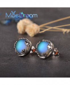Moonlight Blue Aurora Borealis Earrings