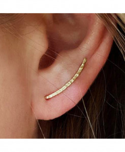 OriginaIngenu Golden Real 925 Silver Climber Ear Cuff Earrings