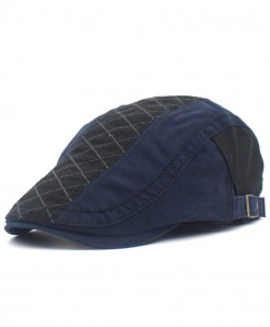 EODJCUE Navy Blue Casual Peaked Caps Embroidery Berets Cap