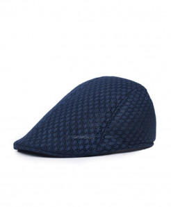 Navy Mesh Breathable Beret Hat