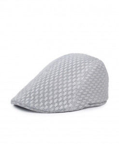 Light Gray Mesh Breathable Beret Hat