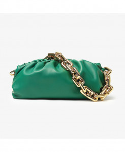 Kovenly Thick Chain Green Cloud Bag Soft Leather Hobos Bag