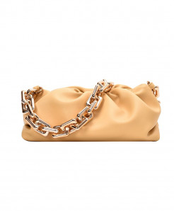 Kovenly Thick Chain Yellow Cloud Bag Soft Leather Hobos Bag