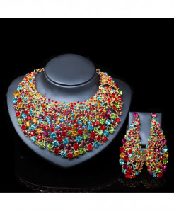LAN PALACE Multicolor Nigerian Jewelry Set