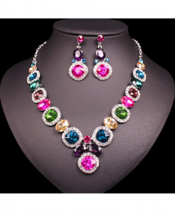 CHAOYITE Multi Colors Austrian Crystal Jewelry Set