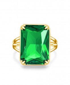 Szjinao Emerald Gemstones Silver 925 Ring
