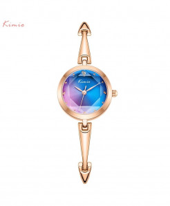 KIMIO Pink Blue Bracelet Design Quartz Watch
