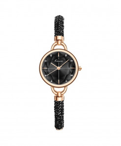 KIMIO Black Diamond Bracelet Crystal Watches