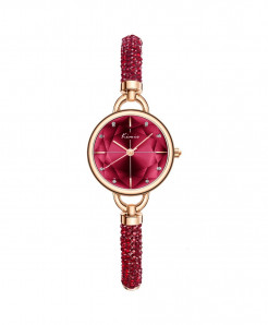 KIMIO Red Diamond Bracelet Crystal Watches