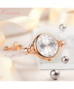 KIMIO White Diamond Bracelet Crystal Watches