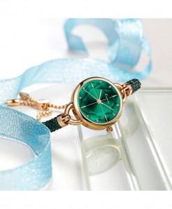 KIMIO Green Diamond Bracelet Crystal Watches