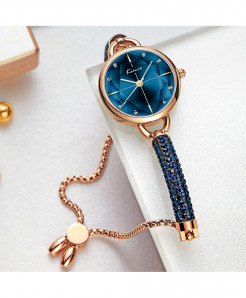 KIMIO Blue Diamond Bracelet Crystal Watches