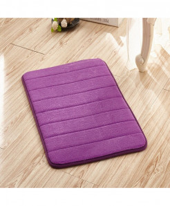 Purple Memory Foam Water Absorption Carpet Rug