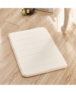 White Memory Foam Water Absorption Carpet Rug