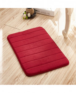 Bright Red Memory Foam Water Absorption Carpet Rug
