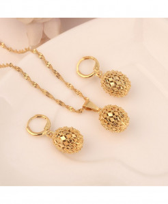 Multi Layer Beads Chain Golden Jewelry Set
