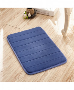 Royal Blue Memory Foam Water Absorption Carpet Rug