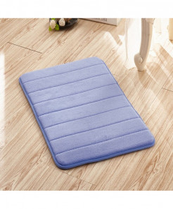 Sky Blue Memory Foam Water Absorption Carpet Rug