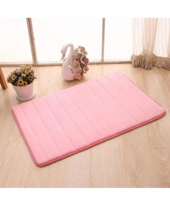 Pink Memory Foam Water Absorption Carpet Rug