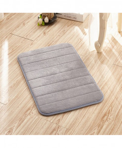 Gray Memory Foam Water Absorption Carpet Rug