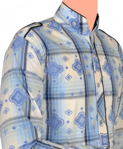 Aqua Blue Designer Shirt For Boys