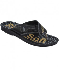 Black Soft Casual Slipper LS-067