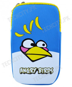 Blue Angry Bird Zipper Pouch for 7 inch Tablet PC