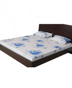 Bed And Rest Blue Aster Bed Sheet