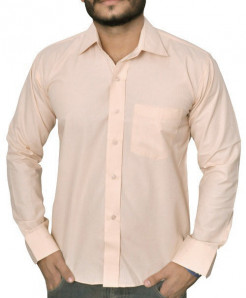 Bisque Self Striped Formal Shirt