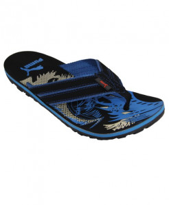 Black Blue Flip Flop Slipper SN-1308
