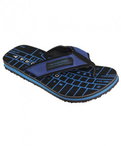 Black Blue Keyboard Print Flip Flop Slipper SN-1318