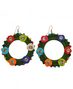 Crochet Beads Diamond Earrings ER-093