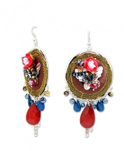 Fancy Beaded Earrings LE-058