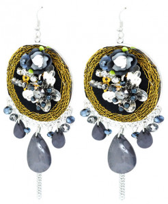 Fancy Beaded Earrings LE-068