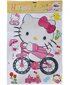 3 x Hello Kitty Wall Stickers AF-6603