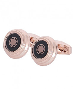 Mont blanc Logo Golden Cufflinks
