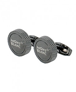 Mont blanc Round Shaped Metallic Cufflinks