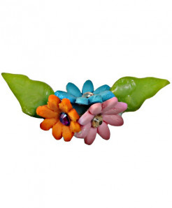 Multi Color Small Flowers Handmade Brooch