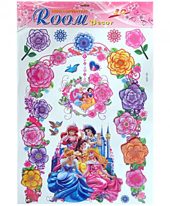 3 x Snow White Wall Stickers WZ-18009