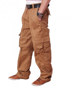 Tan Stylish Cargo Trouser