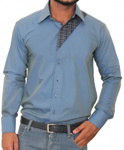 Tanzaib Mercury Grey Contemporary Mens Shirt