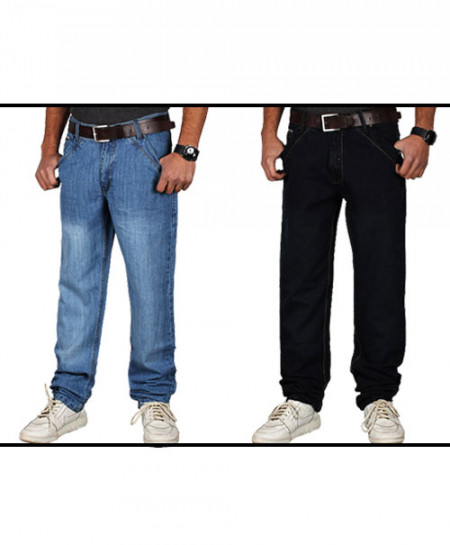 2X Blue And Navy Blue G-Star Stylish Cross Pocket Jeans