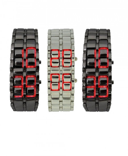 3 x  LED Faceless Watches H1842R