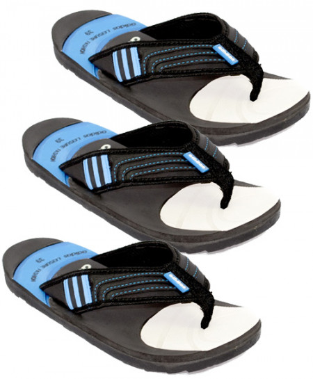 75e239771 Buy 3 x AD Black And Blue Flip Flop Slipper SN-943 online in ...