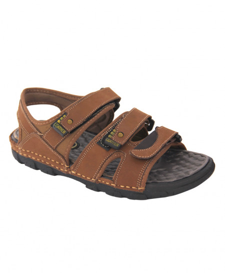 Choco Brown Leather Casual Sandal LS-060