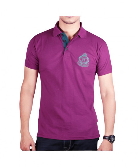 Purple Collar Neck T-Shirt RT-1320